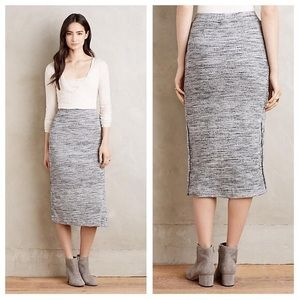 Anthropologie Maeve Heathered Columb Skirt Sz M
